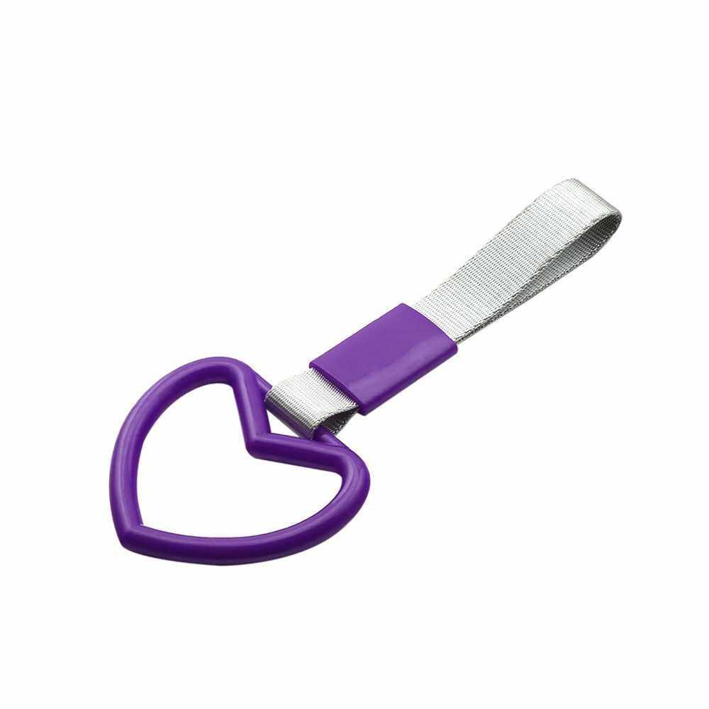 Tsurikawa Ring Heart JDM Train Bus Handle Hand Strap Drift Charm Strap Drift (Purple)
