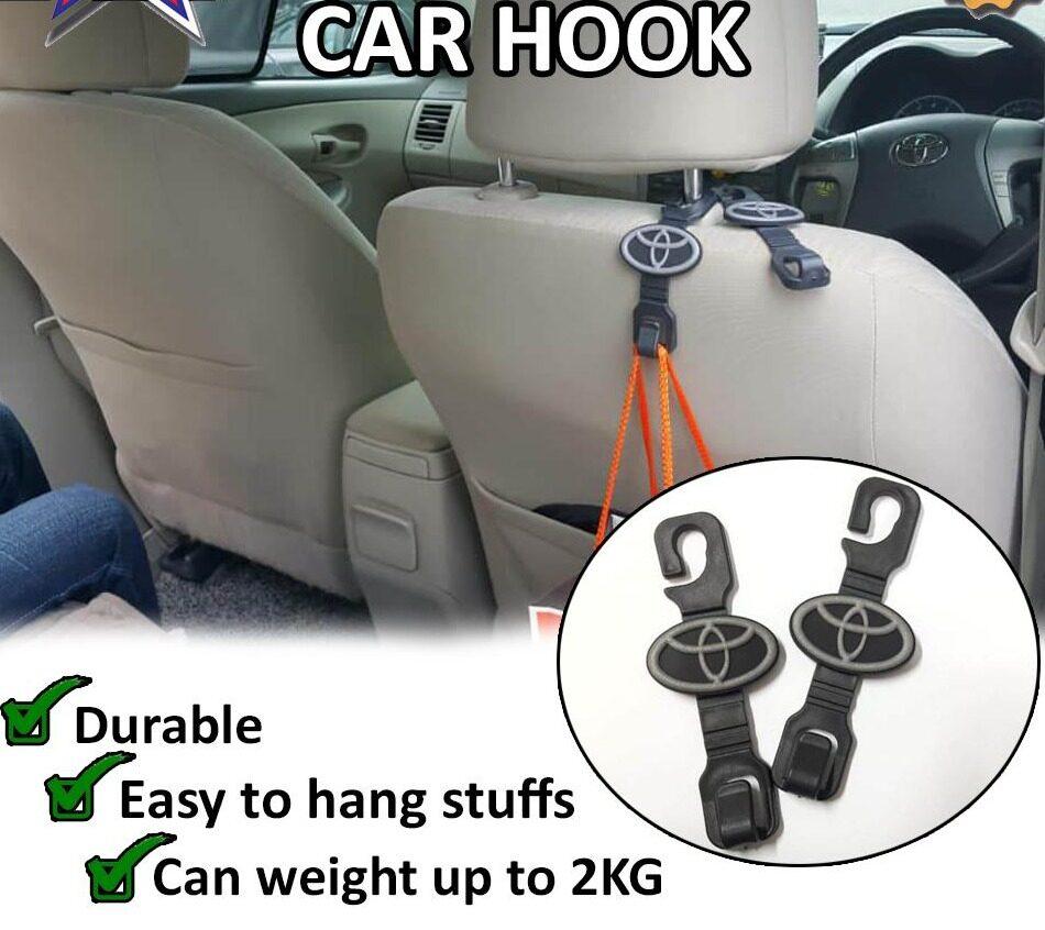 Broz 2Pcs/set Car Back Seat Headrest Hooks Hanger Holder For Bag