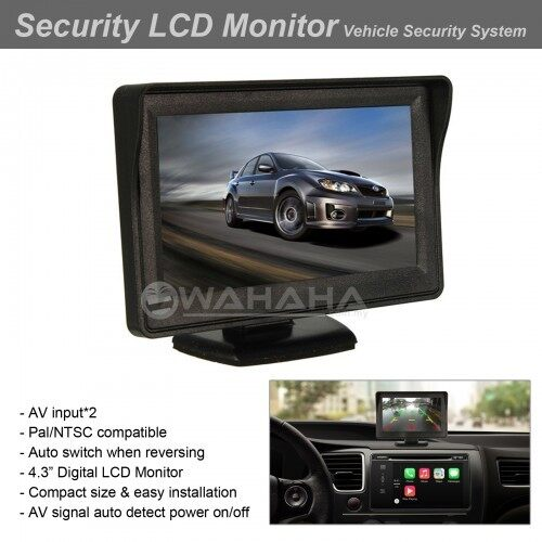 "4.3"" Car Rear View Camera Monitor Fold Desktop Monitor Camera Rear View Screen DC12V"
