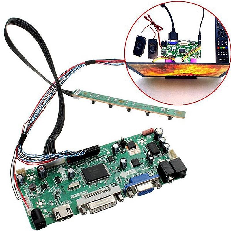 Graphic Cards - HDMI DVI VGA Audio LCD Controller Board PC Module Driver For 1366x768 B156XW02 - Components