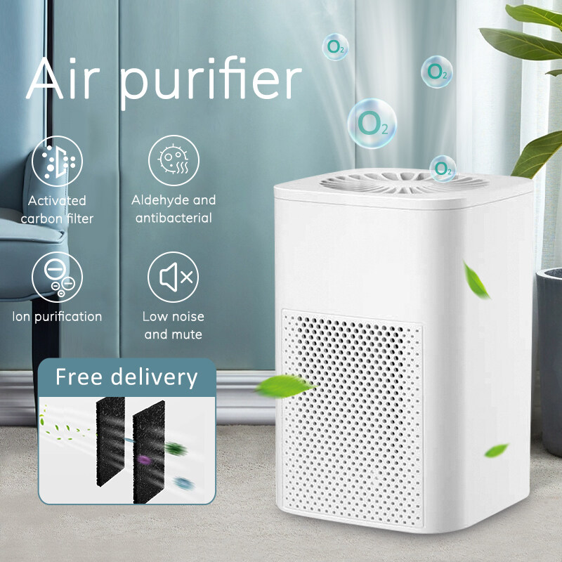 【Ready Stock in Malaysia】Mini Air Purifier Smart Home Negative Ion Air Purifier, Silent Formaldehyde Dust Removal Smoke Pm 2.5anti-allergic Smart Anion Air Purifier