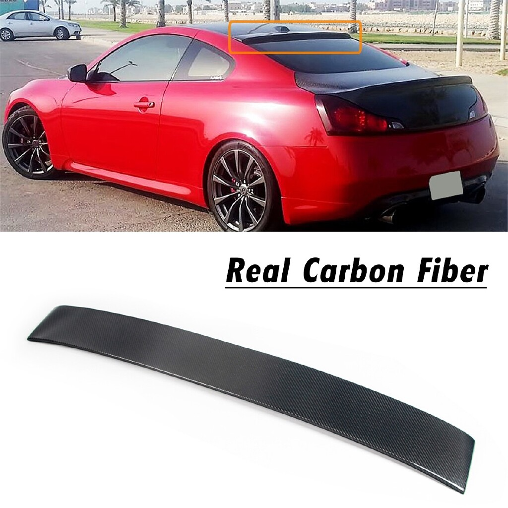 Automotive Tools & Equipment - Carbon Fiber Roof Spoiler For 2007-2014 Infiniti G37 2 Door Coupe Model Real Carbon Fiber Rear Roof - Car Replacement Parts