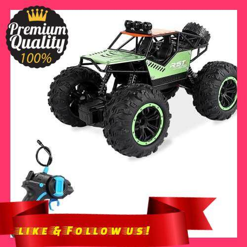 People\'s Choice 1/20 RC Car 20KM/H High Speed Off Road RC Trucks Alloy Shell Racing Climbing RC Car Gifts for Kids Adults (Green)