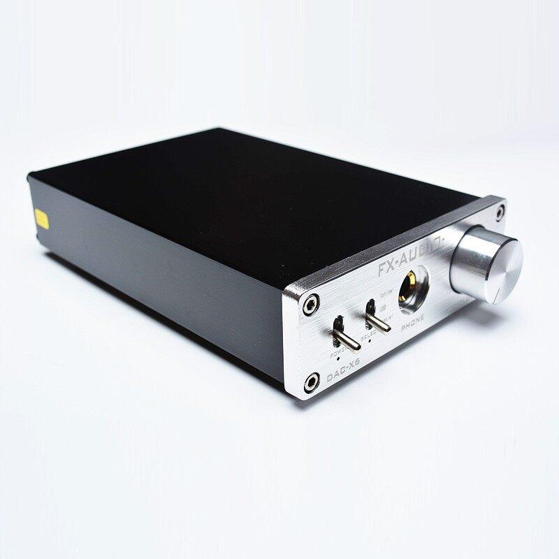 FX-AUDIO DAC-X6 Digital Audio Decoder DAC Input USB Coaxial Output RCA Amplifier - BLACK A / SILVER A / BLACK B / SILVER B