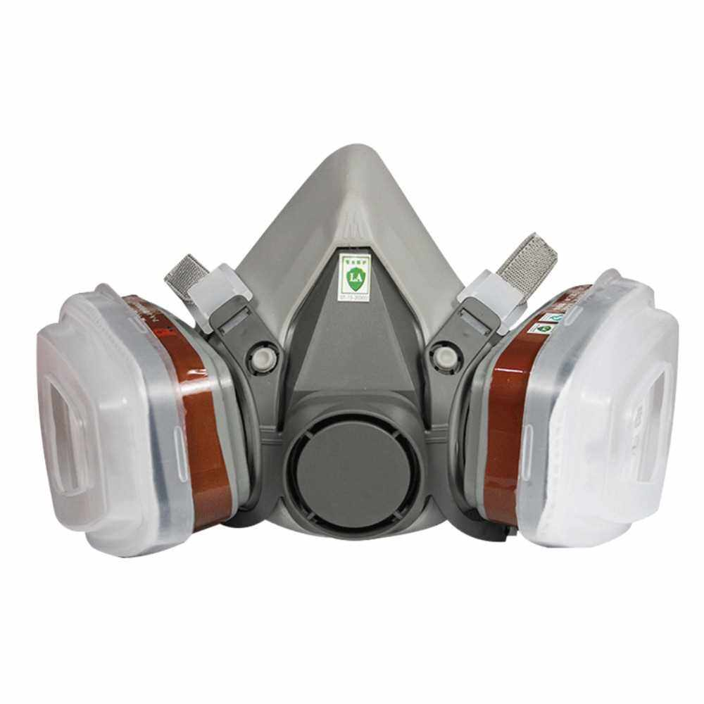 Filter Respirator Dust Mask Chemical Gas Dust Spray Paint Smoke Mask (Standard)