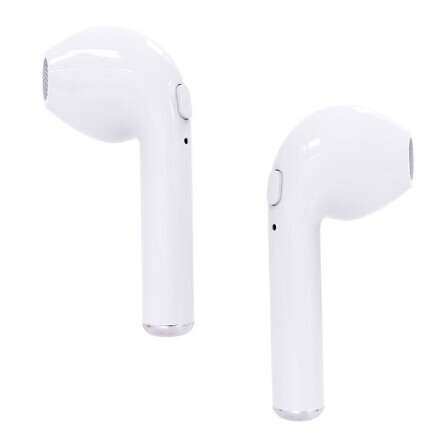 HBQ i7 TWS Twins WIRELESS Earbuds BLUETOOTH Earphone For I8 plus 8 7s 7 plus - WHITE / BLACK