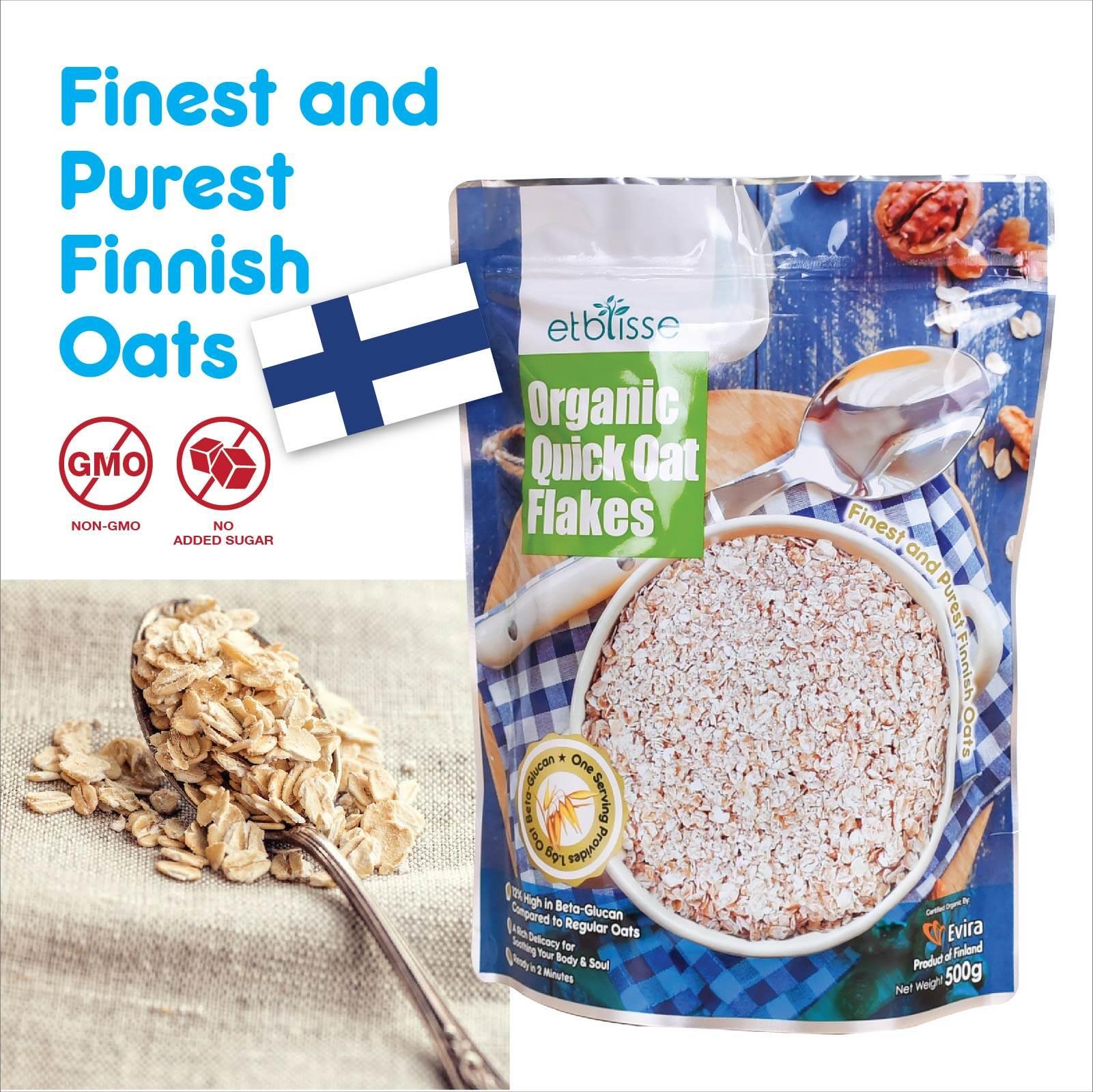 Etblisse Organic Quick Oat Flakes 500g (HALAL)