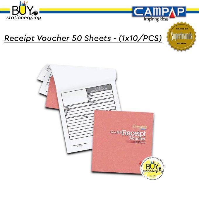 Campap Receipt Voucher 50 Sheets (English, Chinese) - (1x10/PCS)
