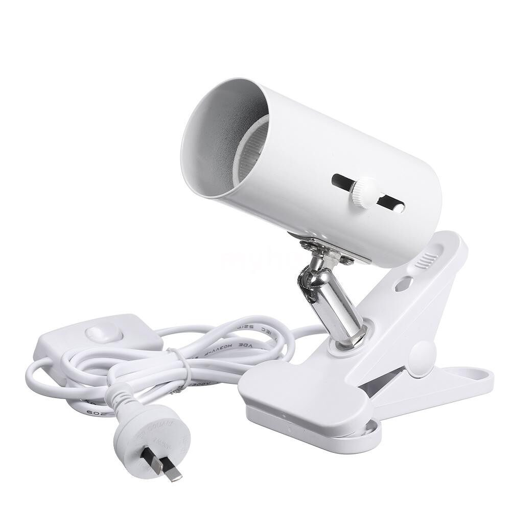 Lighting - 85-265V 300W UVB Pet Light Holder Clamp Lamp Fixture Solid Ceramics Socket and Iron Shell 360 - Home & Living