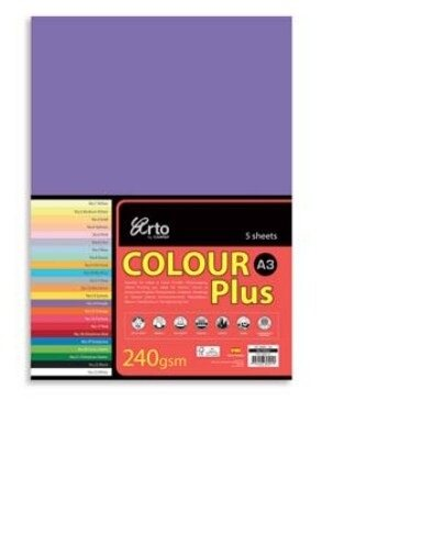 CAMPAP-ARTO 240gms A3 5's COLOUR CARD x 3pkts OLD GOLD