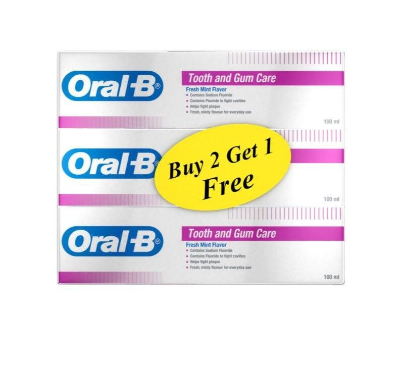 ORAL-B Tooth & Gum Care Toothpaste 3x100ml