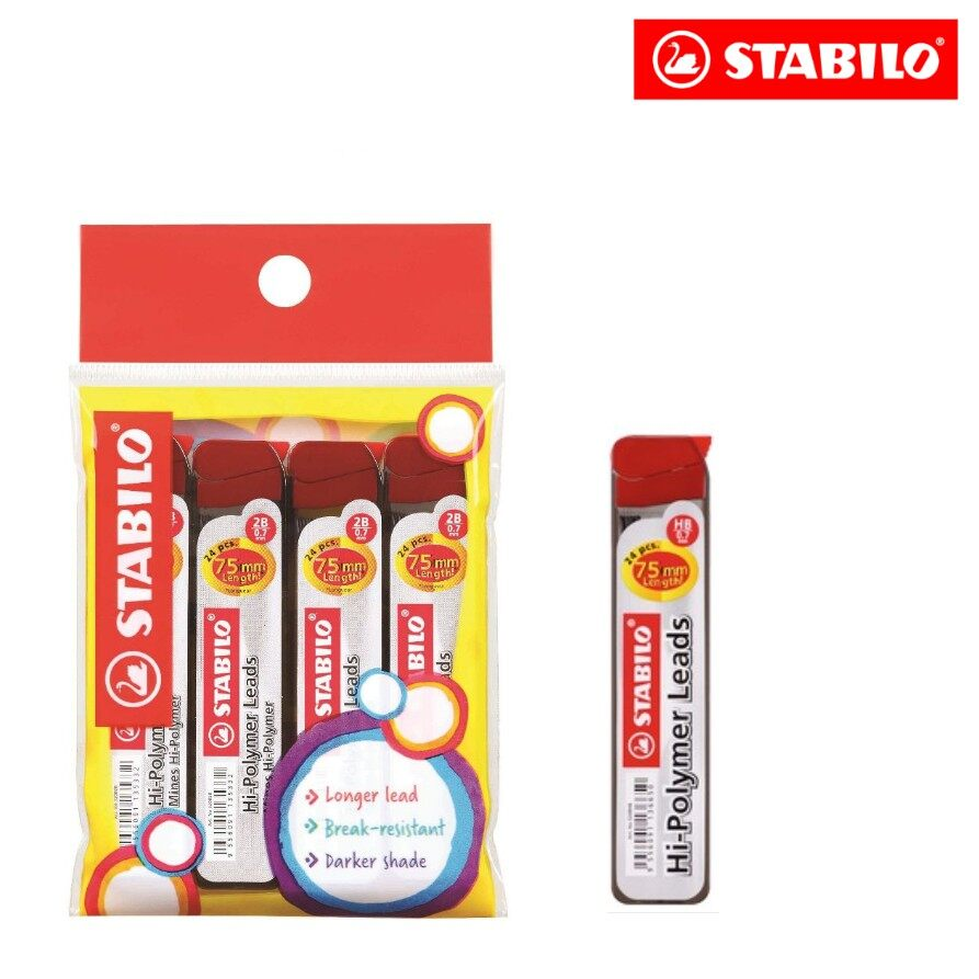 Refill Lead - STABILO Mechanical Pencil Refill Lead (0.7mm) Pack of 4