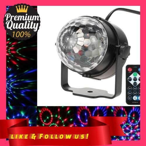 People\'s Choice 3W RGB Remote Control Mini LED Magic Ball Lamp Stage Effect Light for Disco KTV Club Bar Home Party