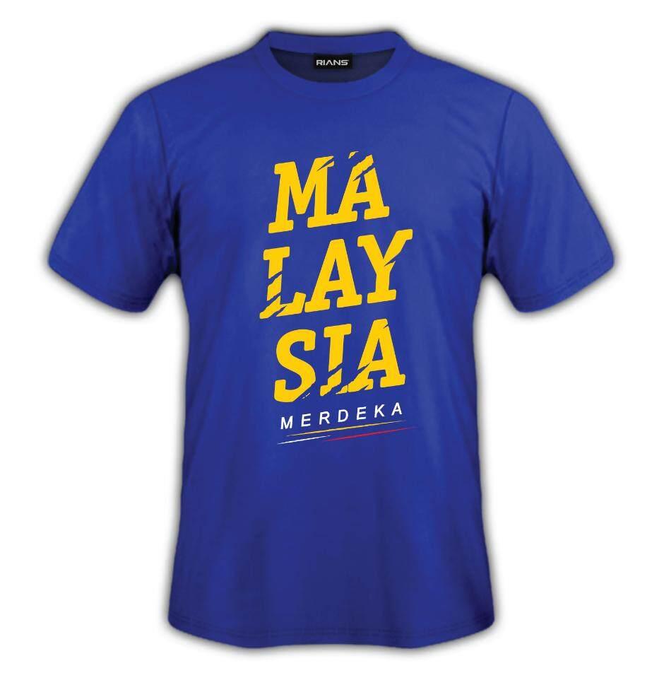 T-Shirt MERDEKA MALAYSIA MERDEKA 100% Cotton Baju Tshirt Black White Hitam Putih Bossku