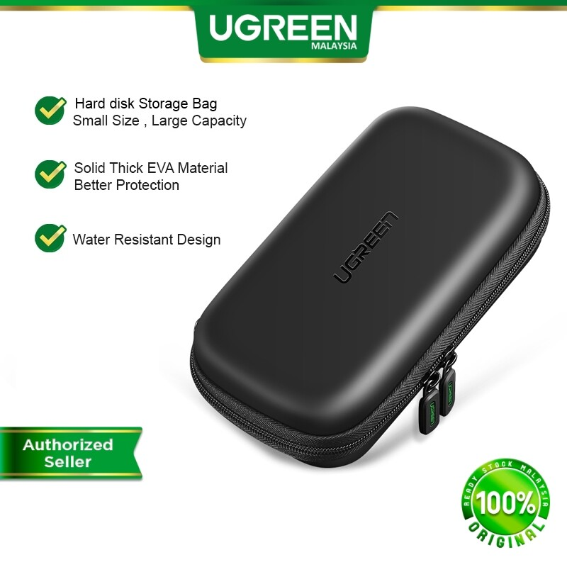 UGREEN Hard Disk Powerbank Storage Bag Travel Storage Case Waterproof Small Size Storages USB Cable Cables Adapter Travel Casing Electronics Accessories Organizer Bags