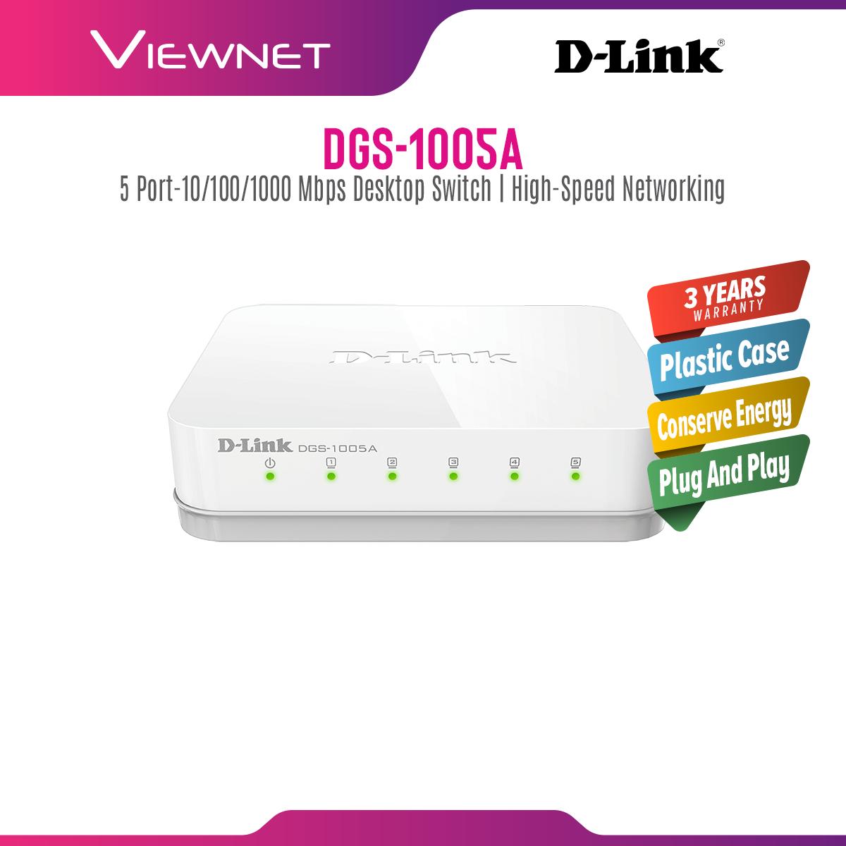 D-Link DGS-1005A 5-Port Unmanaged Gigabit Desktop Switch In Plastic Casing