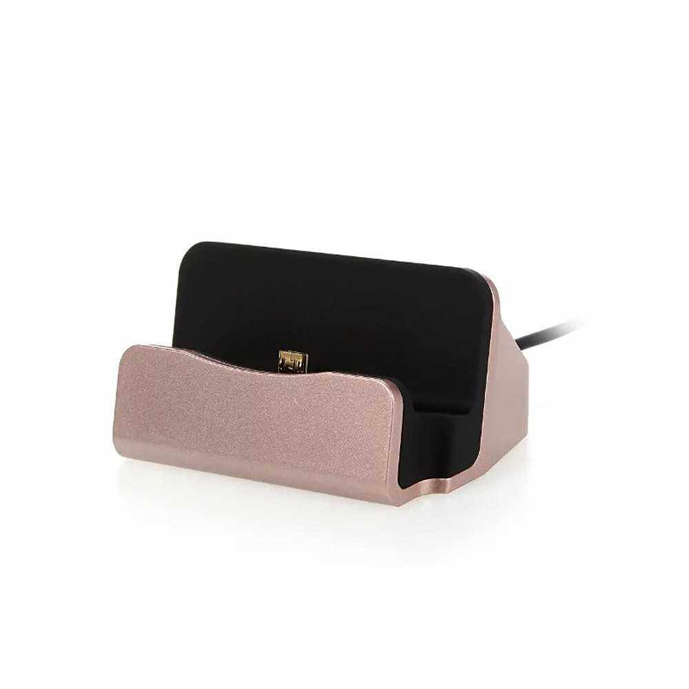 Phone Dock Charging Stand Base Cradle USB Cable Holder (Rose1)