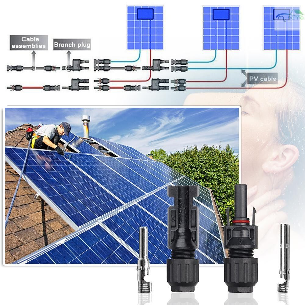 Security & Surveillance - MC4 Cable Connector Male Female Photovoltaic Wire Cable Connector SET for Solar Panel System - #