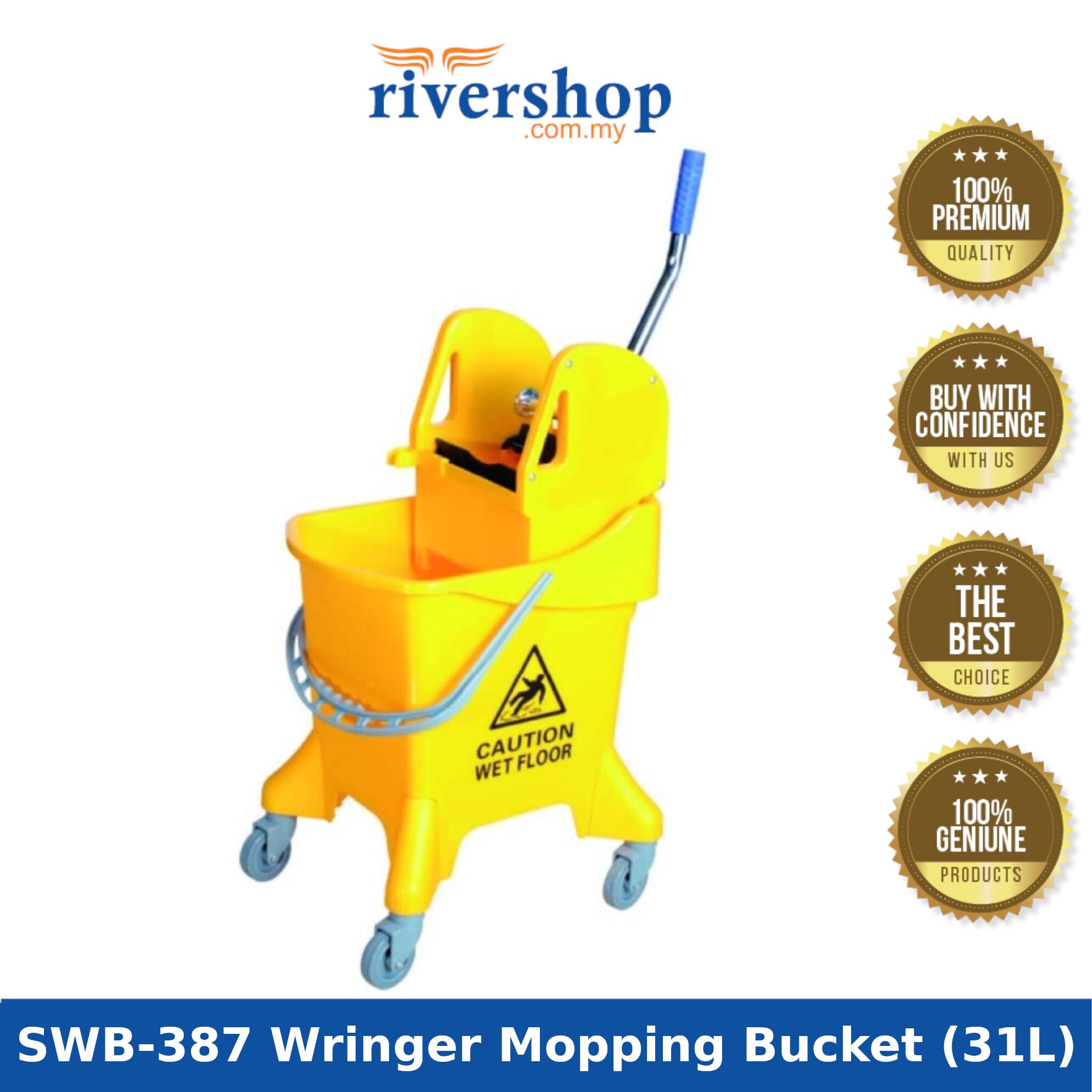 Rivershop Single Wringer Mopping Bucket (Down Press) SWB-387 Yellow