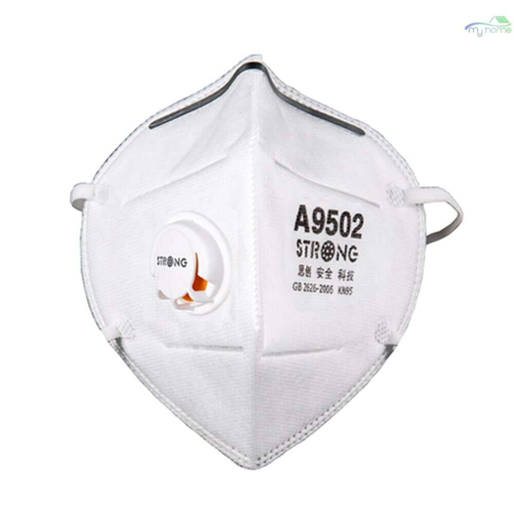 Protective Clothing & Equipment - 10 PIECE(s) STRONG ST-A9502L Particulate Respirator KN95 with Exhalation Valve Dust Mask Against PM2.5 - WHITE