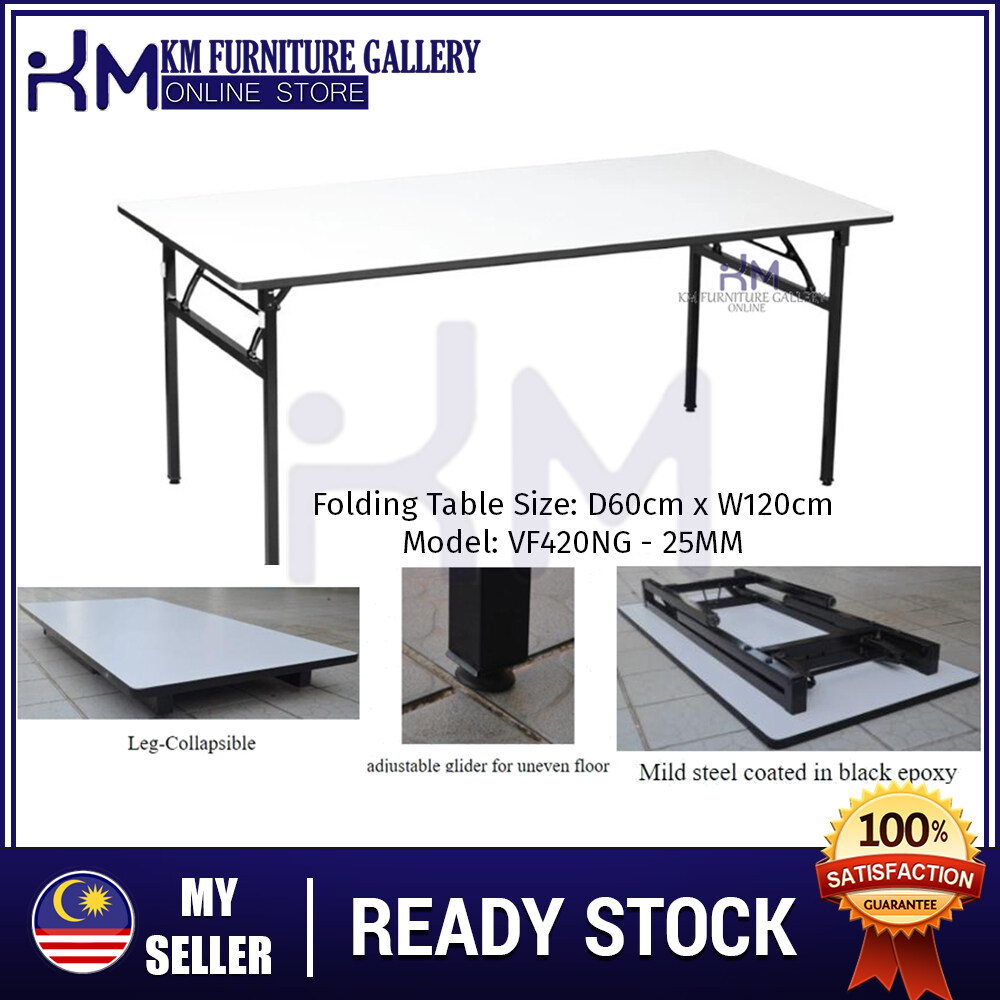 KM Furniture Gallery Folding Table 4' X 2' - Grey KM Folding Table 4' X 2