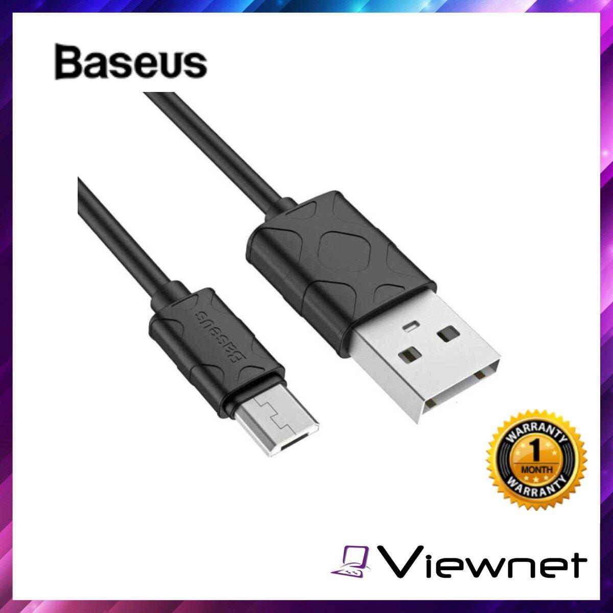 Baseus Yaven 1M Micro USBCable (CAMUN-01), Black, TPE, 2.1A