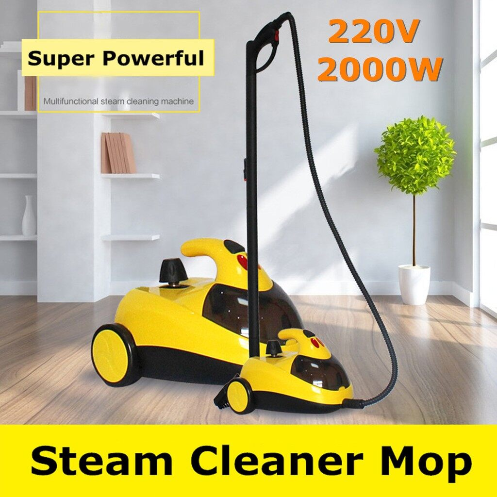 Cleaning Tools - 2000W High Pressure Steam Floor Carpet Cleaner Washer Cleaning Machine US/ EU - Housekeeping & Laundry