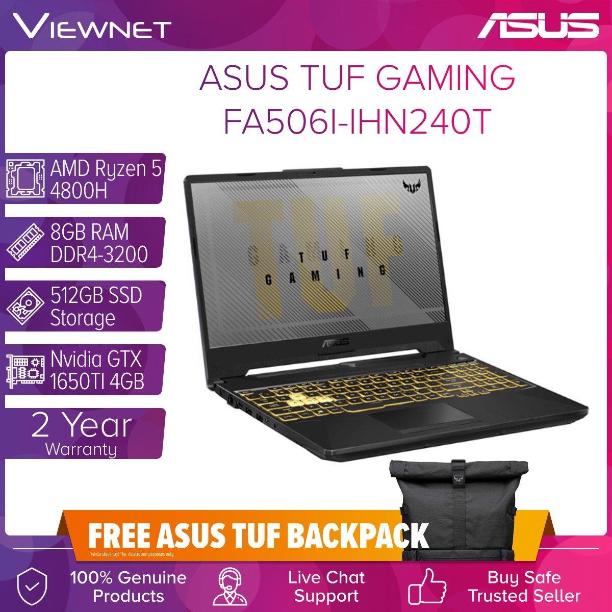 ASUS TUF GAMING LAPTOP FA506I-IHN240T RYZEN R5-46000H/8GB DDR4/512GB SSD/GTX1650 4GB/W10/15.6
