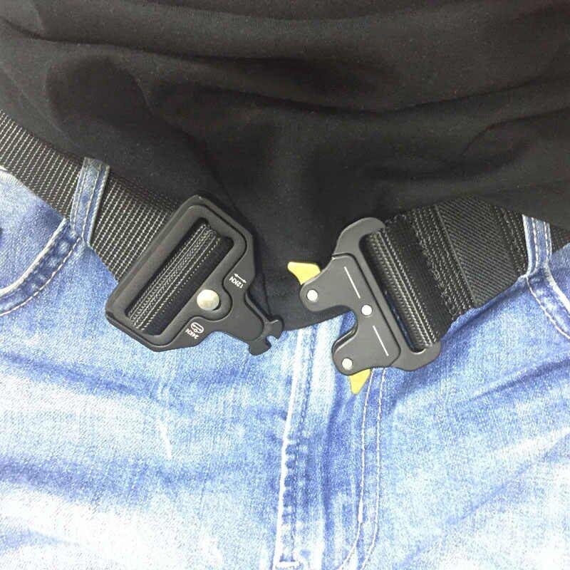 Military Equipment Tactical Belt Men Quick Release SWAT Nylon Belts Adjustable Survival Waist Belt