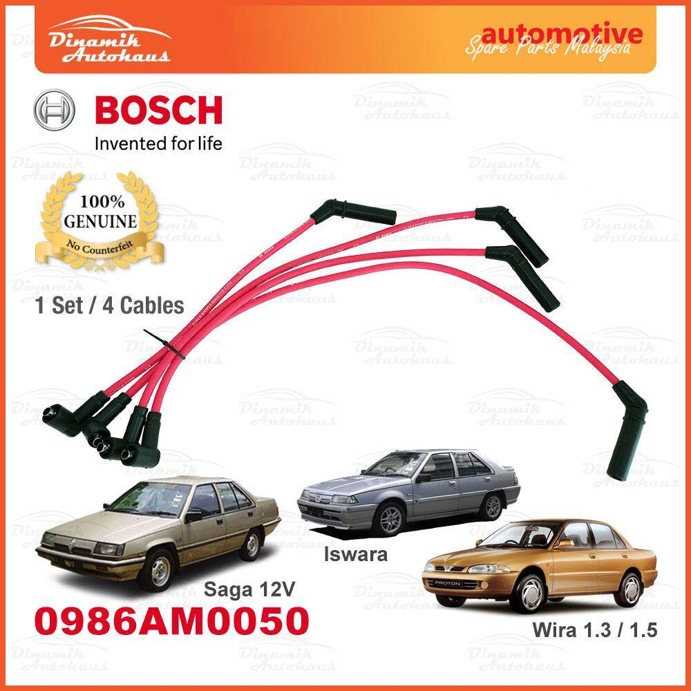 Proton Saga 12V / Iswara / Wira 1.3 / Wira 1.5 Ignition Leads Plug Cable Bosch M050