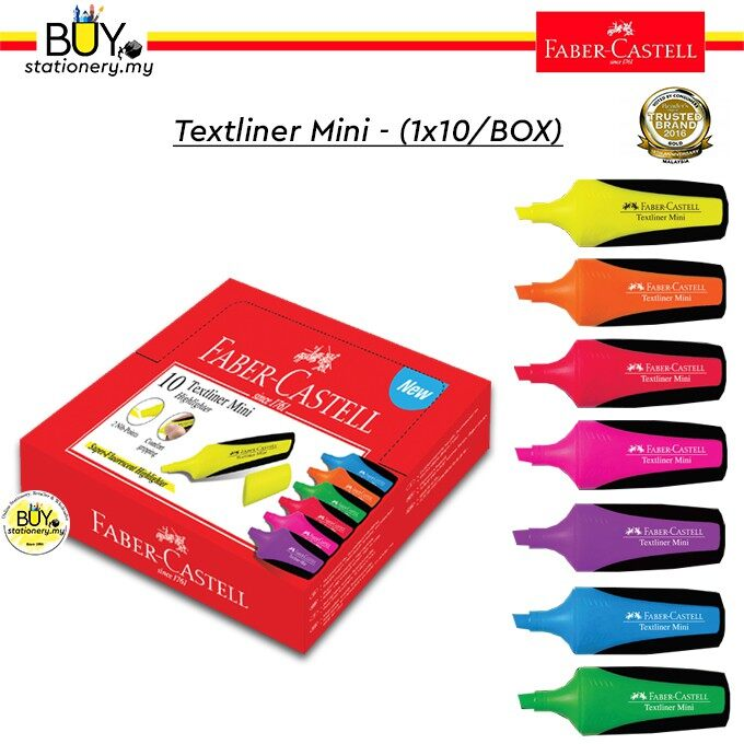 Faber Castell Textliner/Highlighter Mini - (1x10/BOX)