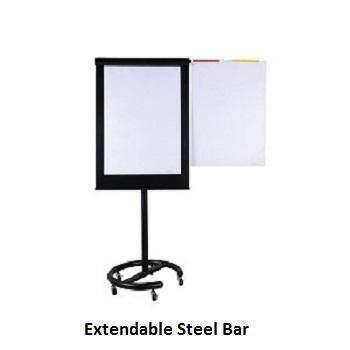 Executive Flip Chart EX71B - 163-195H x 72W x 60D - Black