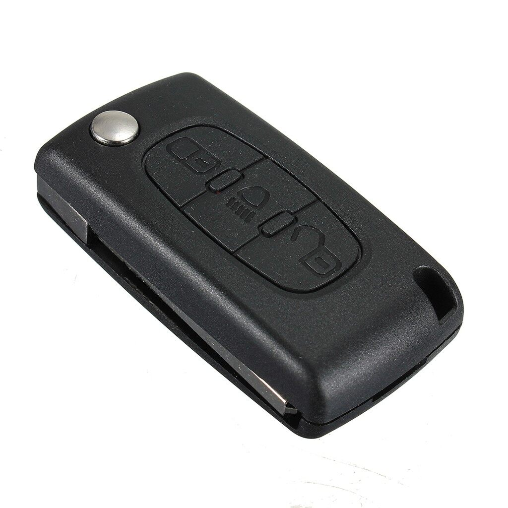 Tyres & Wheels - 3 Button Flip Key Remote Case Fob Shell Uncut Blade For Citroen - Car Replacement Parts