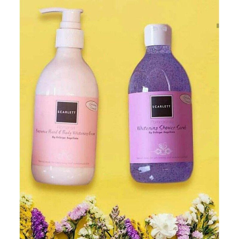 Scarlett Shower Scrub + Body Lotion Original 300ml - Pomegrante and others