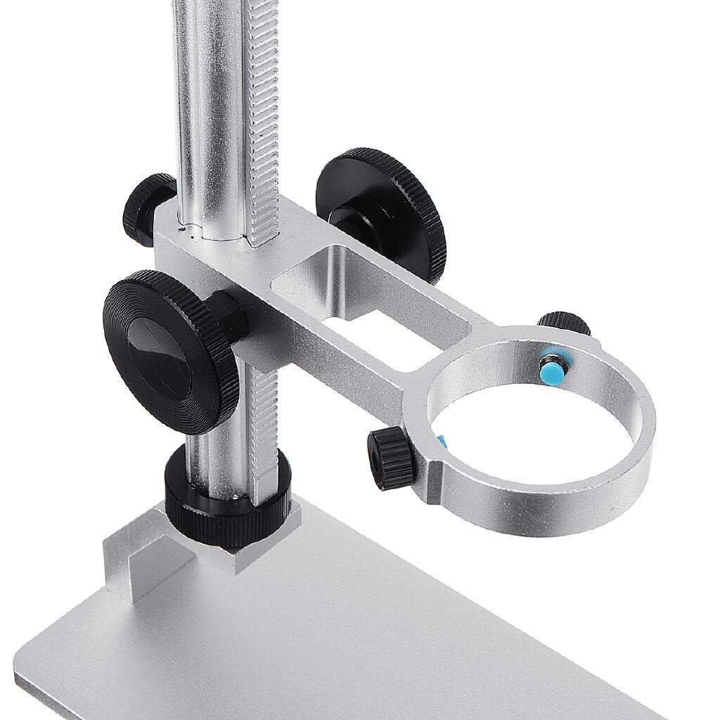 DIY Tools - Adjustable Aluminum Alloy Microscope Holder Stand Manual Focus Support Bracket-3c - Home Improvement