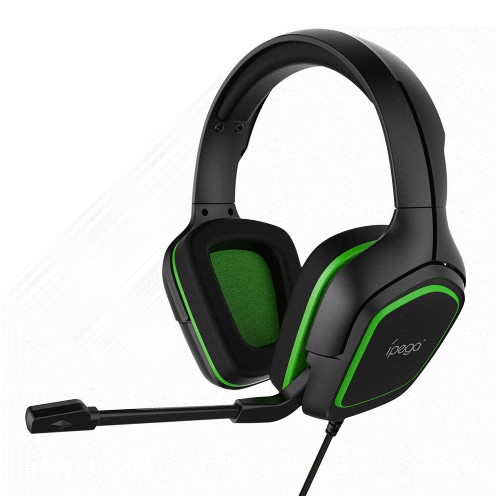 On-Ear Headphones - Ipega R006 Professional Gaming Headphone Noise Cancelling HiFi Head SET with Adjustable Mic for P4 - GREEN / BLUE