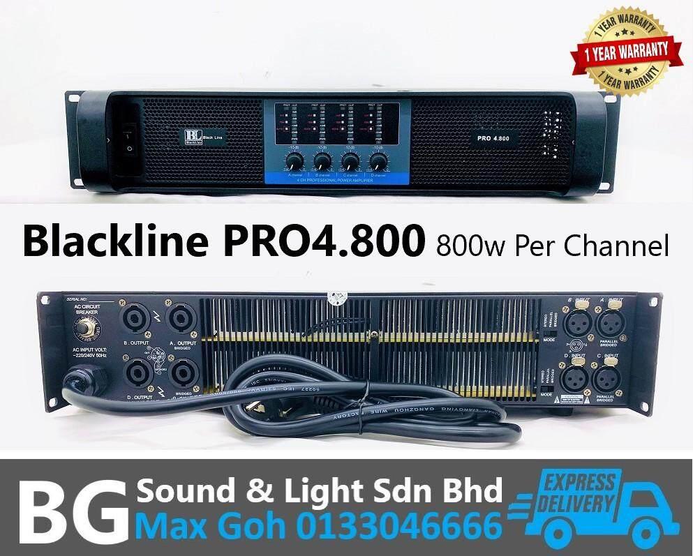 Blackline PRO4.800 4 Channel 800w 8 Ohms Per Channel Power Amplifier