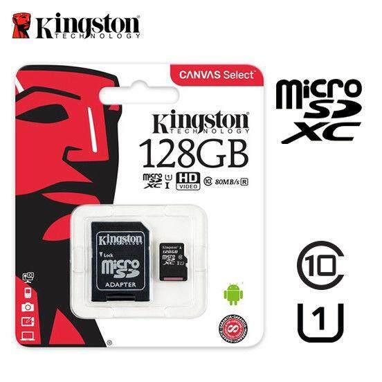 Kingston Canvas Select 128GB 80MB/S Micro SDXC Class 10 UHS-I Memory Card