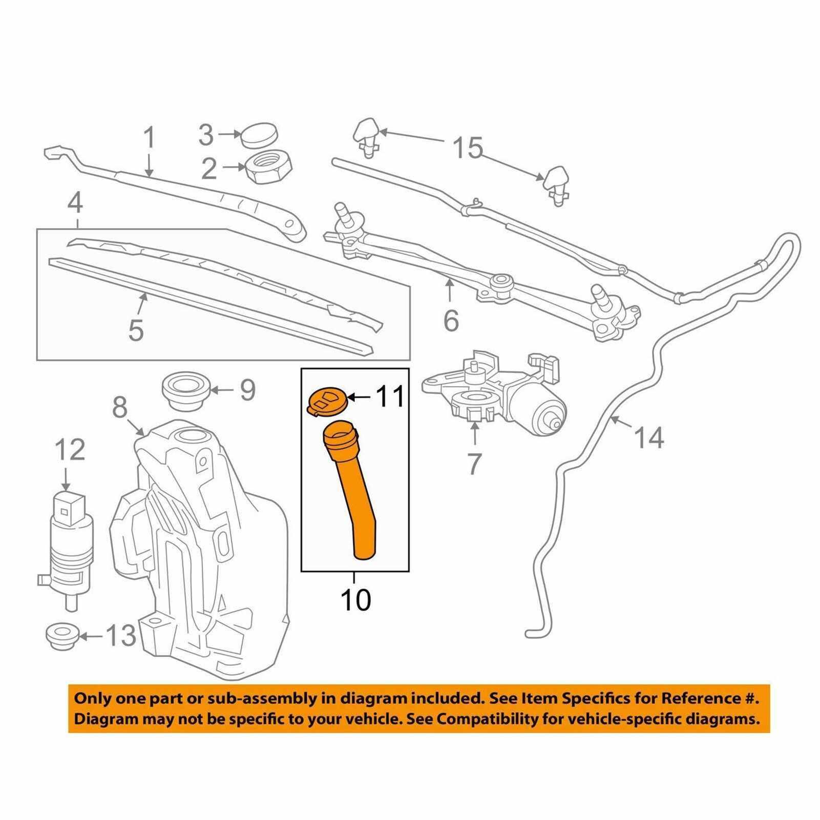 95980613 Windscreen Wiper Kettle Inlet Pipe (Standard)