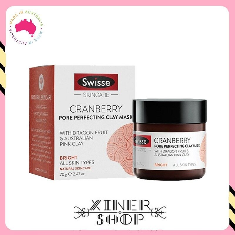 [Pre Order] Swisse Cranberry Pore Perfecting Clay Mask ( 70g )(Made In Australia)