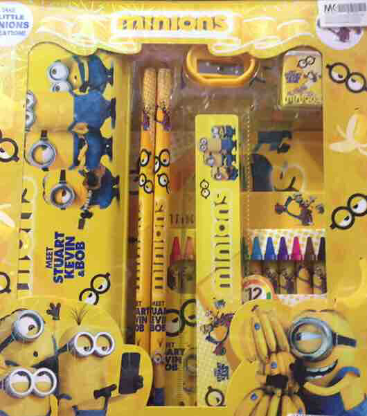 Frozen, Minion and Hello Kitty Stationery Set includes