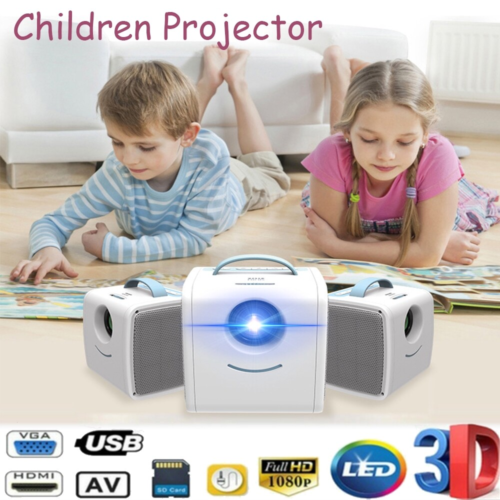 Home Theater Systems - Origianl VEIDADZ Q2 30 Lumens 1080P LCD Projector PORTABLE Projector LED Home CineBeamer MINI - Entertainment