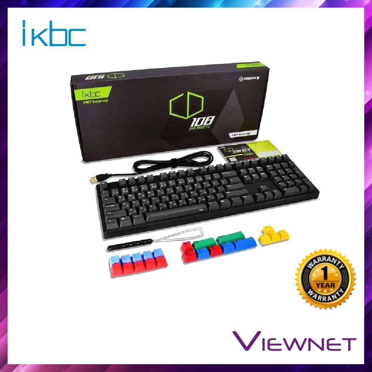 IKBC Gaming Wired CD108 (Brown/BLue/Red Switch) Black Keyboard