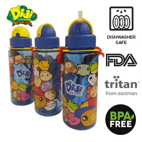 Didi And Friends 500ml Tritan Bottle With Straw - NEW (1 pc)