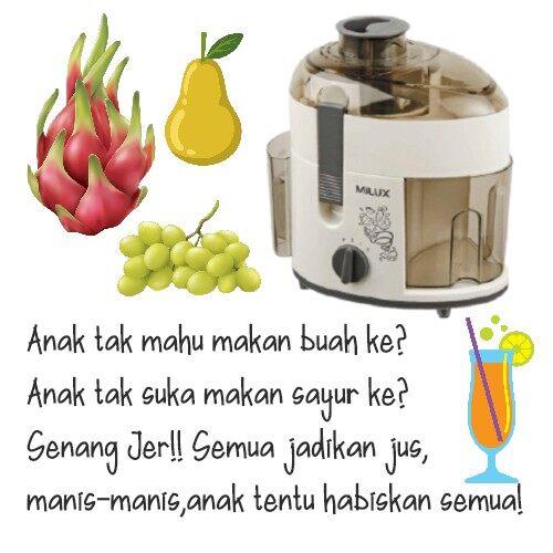 Milux Compact Fruit Juice Extractor / Juicer MJ-213 MJ213