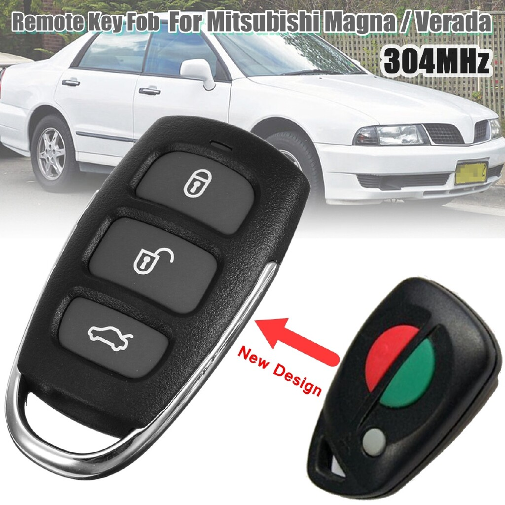 Automotive Tools & Equipment - 3 Buttons Remote Keyless Entry 304 Mhz Key For MITSUBISHI MAGNA VERADA 1998-2004 - Car Replacement Parts