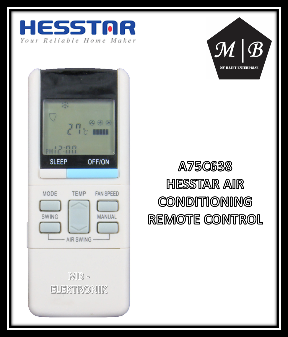 CARRIER/SINGER/WHIRLPOOL/HESSTAR/KELVINATOR/SHARP/TRANE AIR CONDITIONING / AIRCOND / AIR COND REMOTE CONTROL A75C739 A75C638 AHFC002 A75C640 A75C416 A75C382 SAC6204 WS092LW SAC6202