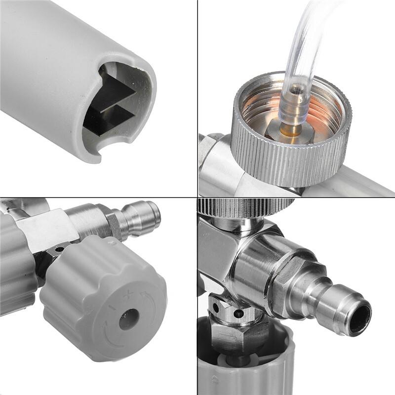 Cleaning Equipment - Car Foam Lance Pressure Washer Snow Soap Washer Foamer Wash Bottle Sprayer 1/4 1L zhibinoppa - Car Care