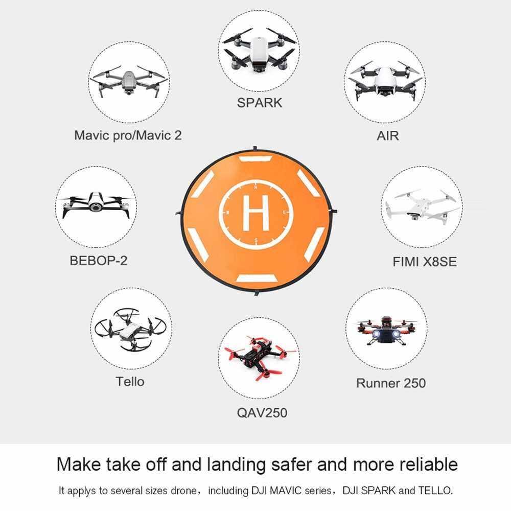 Compatible with DJI Mavic Air 2 Mavic Pro Drones Landing Pad Portable Foldable Landing Pads 110cm Universal Waterproof for Mavic Mini Spark Hubsan FIMI Drone (Standard)