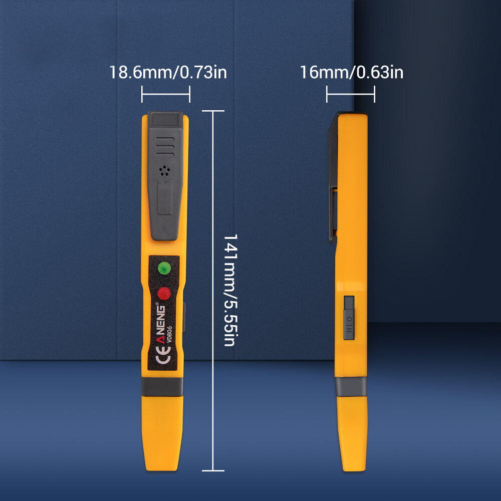 ANENG VD806 AC/DC Voltage Detector Electric Non-contact Pen Tester Continuity Battery Test Pencil with Sound Light Alarm